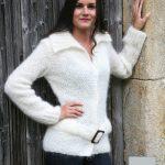 Modele tricot veste femme Mohair Tamarix