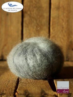 laine mohair et soie gris hibou - Mohair des fermes de France