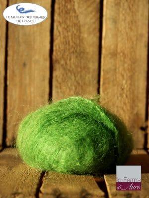 laine mohair vert avocat - Mohair des fermes de France