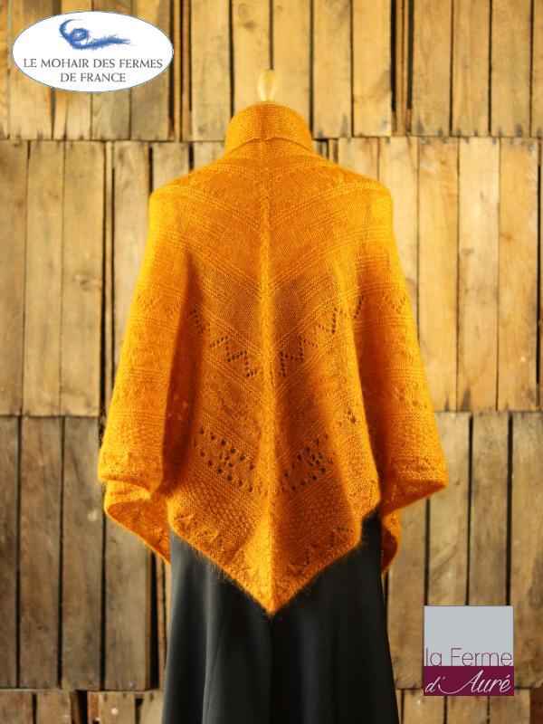Poncho-femme-laine-mohair-ferme-aure-jaune-3