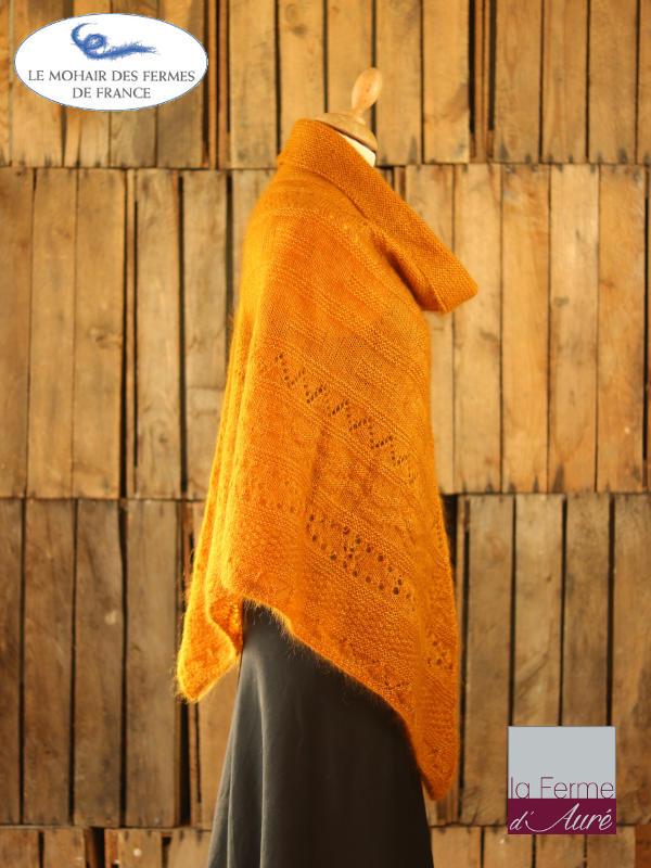 Poncho-femme-laine-mohair-ferme-aure-jaune-4
