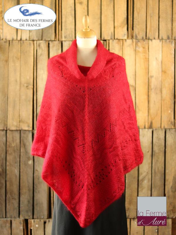 Poncho-femme-laine-mohair-ferme-aure-rubis-1