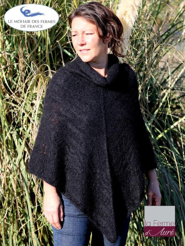 poncho-laine-mohair-france-noir