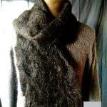Echarpe laine Homme Noir - Mohair et soie