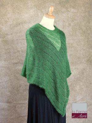 Poncho Mohair Soie Riviera coloris Vert Bouteille par la Ferme d'Auré - 2